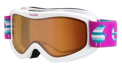 New Bolle AMP youth ski goggles kids childs snowboard eye protection snow White