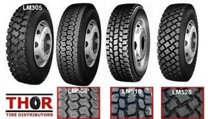 11R24.5 11R 24.5 11 R 22.5 DRIVE TRAILER & STEER TRUCK TIRES NEW - LONGMARCH - LOWEST PRICE IN KAMLOOPS AREA BUY DIRECT