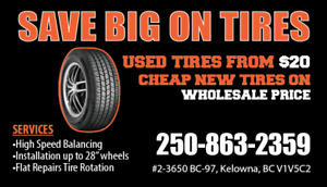 GRAND OPENING SEPTEMBER USED & NEW TIRES UNBEATABLE PRICE !!!
