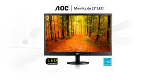 """22"""" AOC Value-line LED Monitor"""