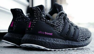 ADIDAS ULTRA BOOST 4.0 BREAST CANCER AWARENESS BLACK/PINK Men New Sz 7.5, 8, (Black Pink Breast)