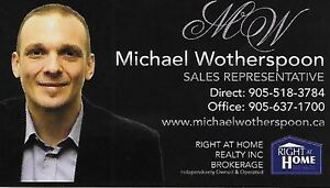 ARE YOU THINKING OF BUYING OR SELLING? CALL MICHAEL WOTHERSPOON.