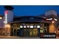 Cineworld one month free code when you join Cineworld unlimited