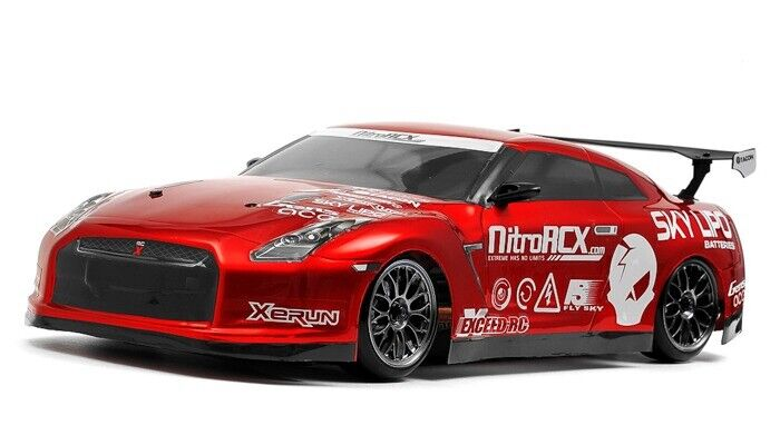 1/10 Exceed RC 2.4Ghz MadSpeed Drift King GT-R Brushed Electric Car RTR Red NEW
