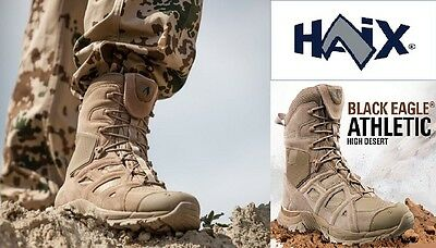 Haix Black Eagle Athletic 11 High Desert Sand Sidezipper Boots Stiefel UK10.5 45