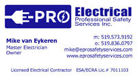 Electrician 309/442 or 4-5th year apprentice