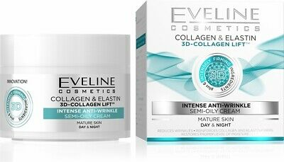 Eveline 3D Collagen Elastin Lift Intense Anti Wrinkle Day Night Cream 50ml