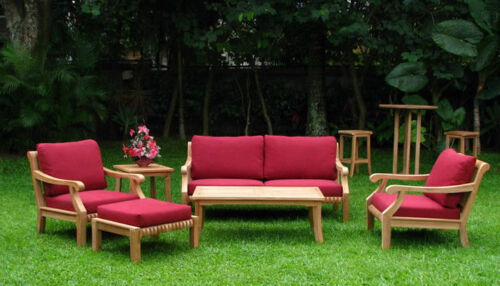 Giva A-grade Teak Wood 6 Pc Outdoor Garden Patio Large Sofa Lounge Chair Set New