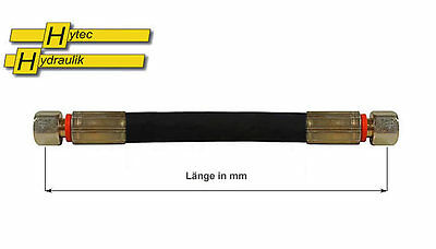 Hydraulikschlauch 10-L, 12-L, 15-L  NW10 metrisch - Länge wählbar