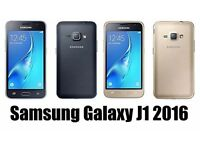 Samsung Galaxy J1 2016 Model Unlocked to any Network Mobile Phone for Quick Sale Brand New