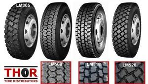 11R24.5 11R 24.5 11 R 22.5 DRIVE TRAILER & STEER TRUCK TIRES NEW - LONGMARCH - WE ARE THE IMPORTER - SAVE NOW BUY DIRECT