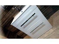 White Bathroom Cloakroom Storage Vanity Unit Cabinet Drawer with Damaage