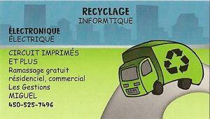 Récupération recyclage d'ordinateur
