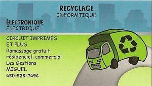 Recyclage de votre matériel
