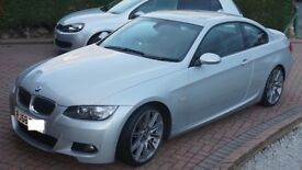 2008 (58) E92 335d Coupe, titan silver, fully loaded, 340bhp, 99k, sat nav, leather, parking sensors