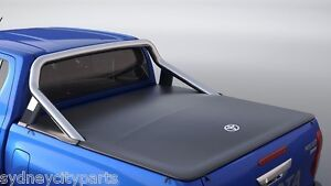 TOYOTA HILUX TONNEAU COVER DUAL CAB SR5 FROM JULY 2015  FLUSH MOUNT NEW GENUINE