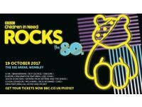 BBC Children in Need ROCKS the 80s - 2 STANDING TICKETS £30 EACH - 19TH ROCKTOBER! - WEMBLEY LONDON