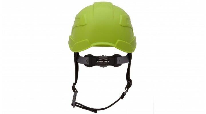 Pyramex HP76131 Ridgeline XR7 Cap Hard Hat 6 PT Ratchet Suspension LIME GREEN Business & Industrial