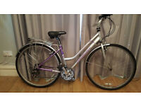ladies stepover claude butler hybrid/town bike