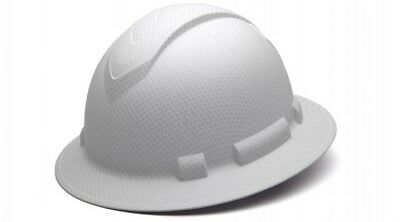 Pyramex Hp54116 Ridgeline Graphite Full Brim Matte White Hard Hat W4 Pt Ratchet