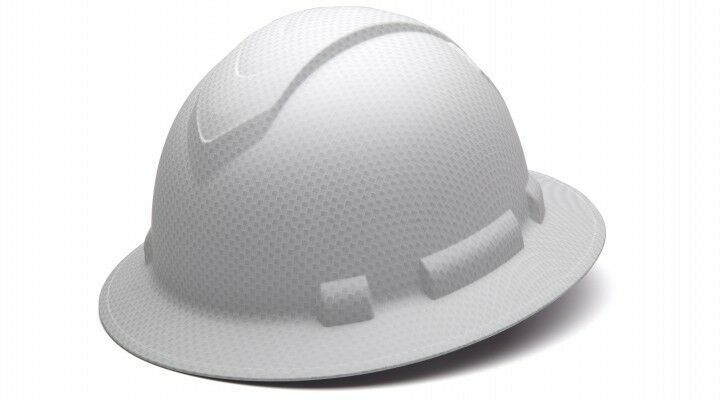 Pyramex HP54116 Ridgeline Graphite Full Brim Matte White Hard Hat W4 Pt Ratchet Business & Industrial