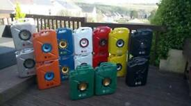Jerry can music speakers.