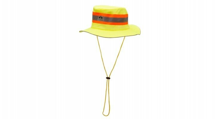 Pyramex RRH10 Hi-Viz Lime Green Cooling Ranger Hat, One Size Clothing, Shoes & Accessories