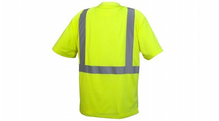 Pyramex RTS2110B Type R Class 2 Safety T-Shirt W/Black Bottom & Pocket, M-5XL Clothing, Shoes & Accessories