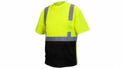 Pyramex Rts2110b Type R Class 2 Safety T-shirt Wblack Bottom Pocket M-5xl