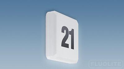 Fluolite Hausnummernleuchte Hausleuchte Quadro mit Dämmerungsschalter 65801505