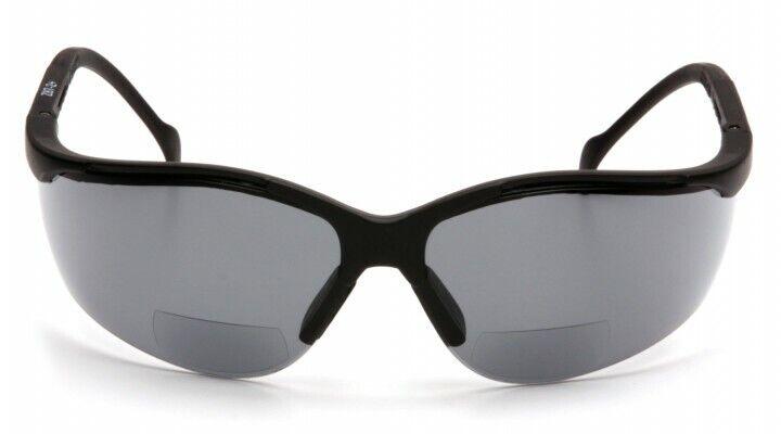 Pyramex – SB1820R25 Venture 2 Readers Glasses Black Frame W/Gray Lens +2.5 Mag Business & Industrial