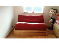Loop - 2 Seater Birch Double Sofa Bed