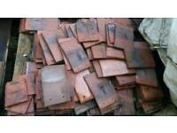 Reclaimed antique clay shingle tiles
