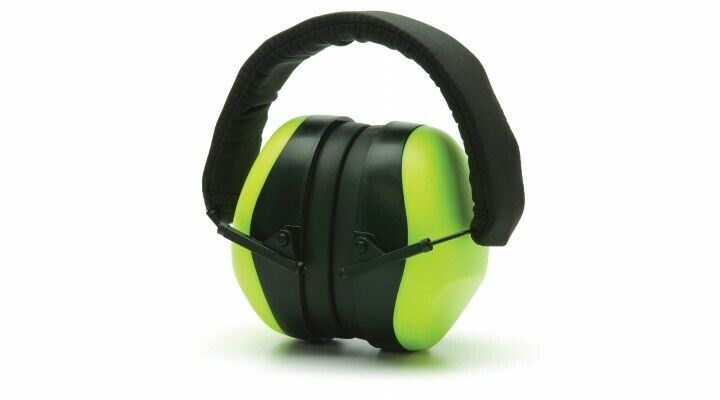 Pyramex PM8031 LIME GREEN, PM80 Series Economy Ear Muffs – 26dB NRR Business & Industrial