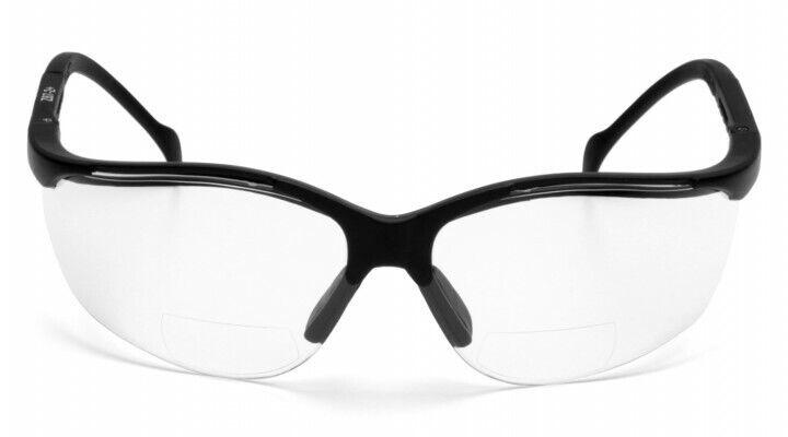 Pyramex – SB1810R20 Venture 2 Readers Glasses Black Frame W/Clear Lens +2.0 Mag Business & Industrial