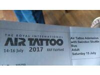 1 x Air Tattoo Ticket, RAF Fairford. Saturday 15th July. Includes shuttle bus.