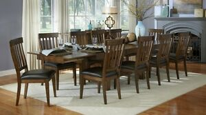 SOLID WOOD EXTENSION TABLE & 4 SIDE CHAIRS