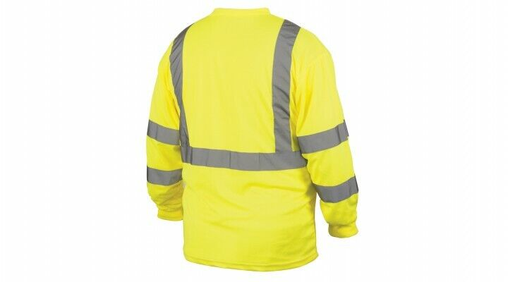Pyramex RLTS3110 Type R Class 3 Long Sleeve Safety Shirt – Yellow/Lime Med-4XL Clothing, Shoes & Accessories
