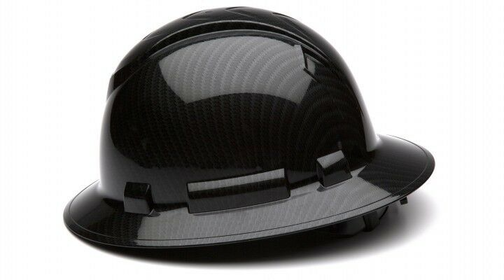 Pyramex HP54117S Ridgeline Graphite Full Brim Shiny Black Hard Hat 4 Pt Ratchet Business & Industrial