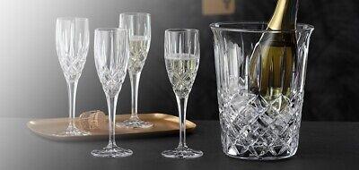 Nachtmann Noblesse Weinkühler, Sektkühler und 4 Sektgläser , Champagnergläser