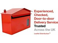 Leaflet Distributor - Swindon. Door to Door. Part-Time. Flexible Hours