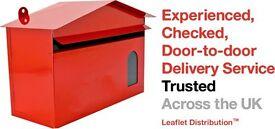 Immediate Start- Leaflet Distributors Wanted in Huntingdon