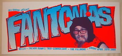 2005 Fantomas - Fillmore Silkscreen Concert Poster by Richie Goodtimes