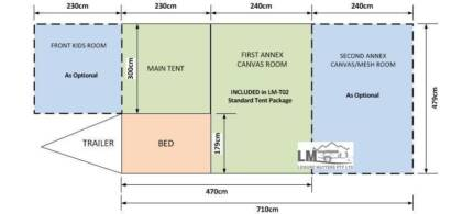 2012 Leisure Matters Camper Trailer with extra Mesh Room Bundaberg East Bundaberg City Preview