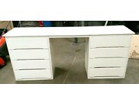 White Light Wood DRESSING Table - LOCAL FREE DELIVERY