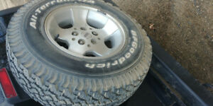Jeep TJ Rims with Tires. Set of 5
