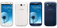 samsung glaxy s3 unlocked 16gb  white and blue with box $175
