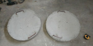 2 solid concrete weights/anchors /blocks