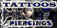 BODY PIERCING & TATTOO SHOP OLDS, AB. FREE JEWELLERY