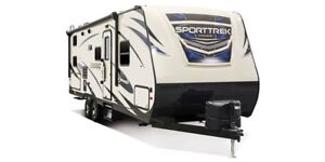 SportTrek ST302VTH TRAVEL TRAILER TOY HAULER